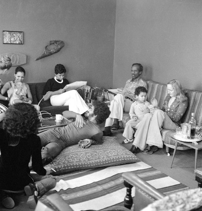 McDonald Bailey family in their living room: 20th century