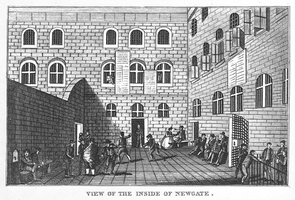 View of the inside of Newgate: 1891