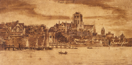 Old St. Paul's from the River: 17th century