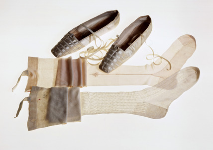 Stockings and shoes possibly worn by Queen Victoria: 19th century