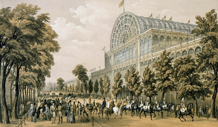 View of the south side from near the Princes Gate, looking west: 1851