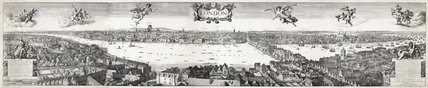 London panorama 1647: 19th century copy