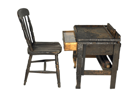 Shoe repairer's workbench: 20th century