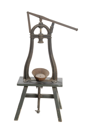 Winemaker's bottle-corking machine: 20th century