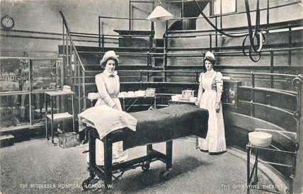 The Operating Theatre at The Middlesex Hospital: 1910