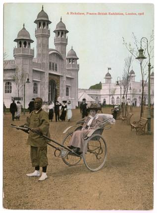 A rickshaw at the Franco - British Exhibition, London: 1908