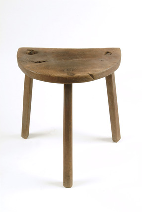 Watchcasemaker's workbench stool: late 19th- early 20th century