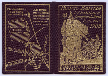 Season ticket for the Franco-British Exhibition: 1908