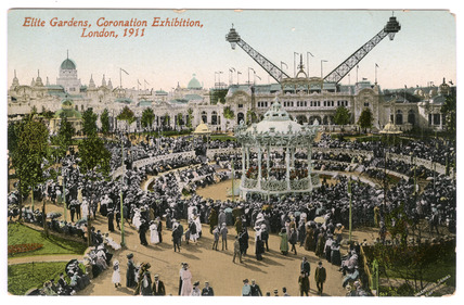 Postcard of the Coronation Exhibition Gardens: 1911