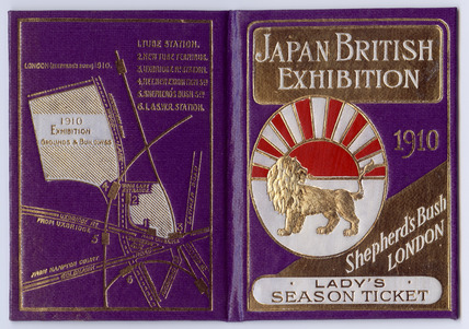 Japan - British Exhibition Season ticket:1910