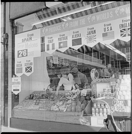 A greengrocer store, Golders Green Road: 1965