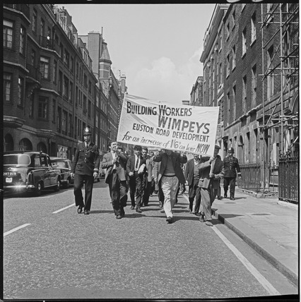 A demonstration for wage increases: 1965