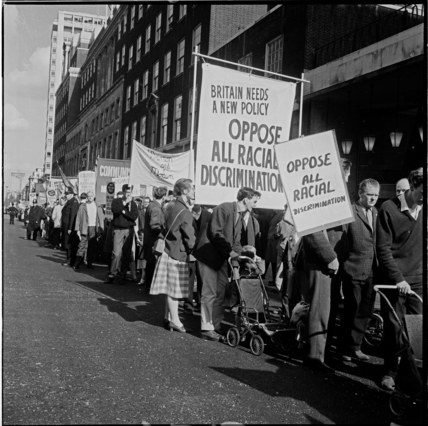 A march opposing racial discrimination: 1965