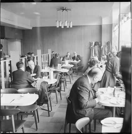 Interior of a J. Lyons restaurant:1968