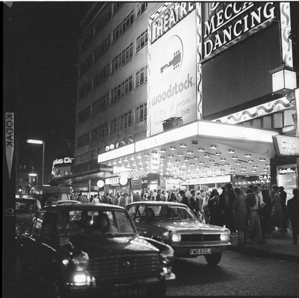 Leicester Square at night: 1970