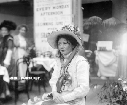 Christabel Pankhurst at The Women's Exhibition: 1909