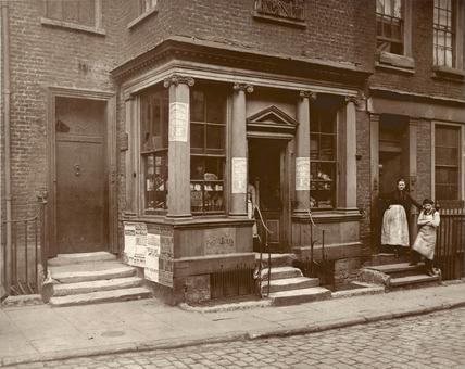 Soho street scene: c.1880