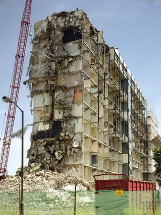 Demolition of Trowbridge House, Southwark: 1997