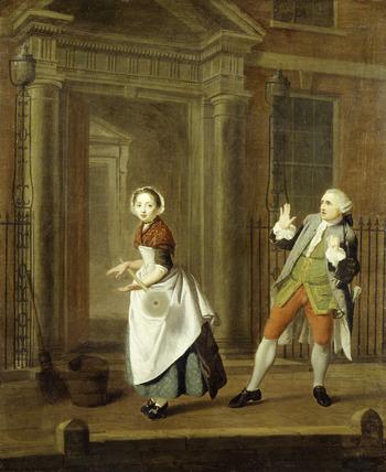 A City Shower: 18th century