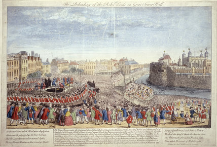 The Beheading of the Rebel Lords on Great Tower Hill: 18th century