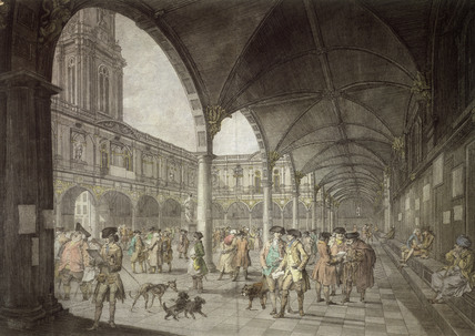 The Inside of the Royal Exchange in London: 1788