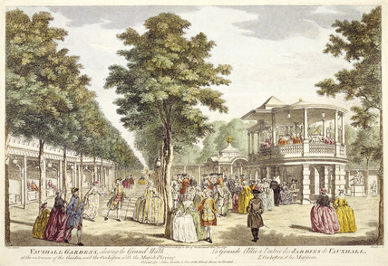 A view of Vauxhall Gardens showing the Grand Walk: 18th century