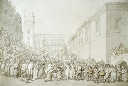 An execution outside Newgate Prison: 19th century