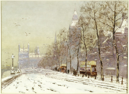 Embankment under snow: 1909
