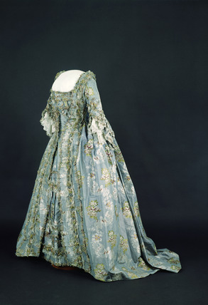 French dress, stomacher and petticoat: 18th century