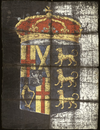 Funeral banner of Oliver Cromwell: 17th century