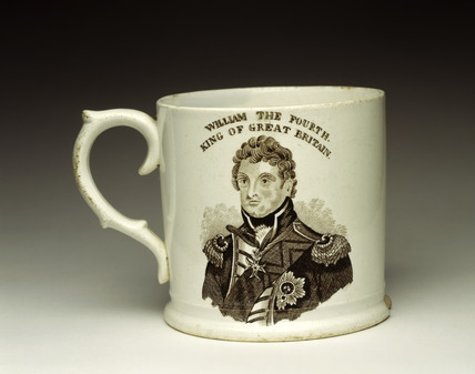 King William IV commemorative mug: 1831