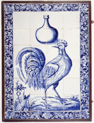 Delft tile panel: 18th century