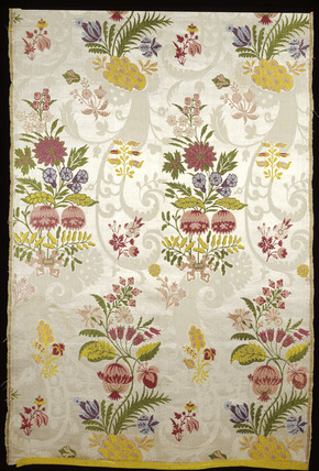 Silk dress panel: 18th century