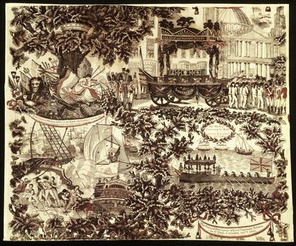 Commemorative handkerchief: 1806