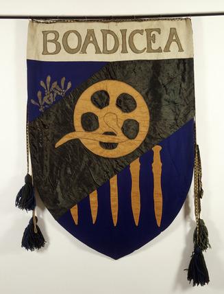 Suffrage banner, Boadicea: 1908