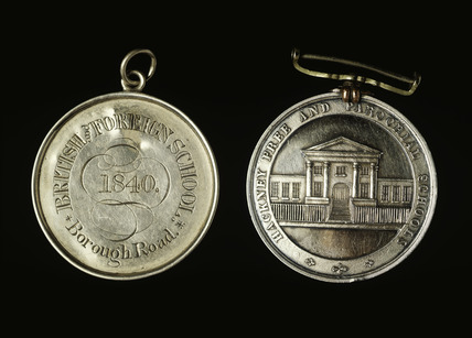 Two school badges: 19th century