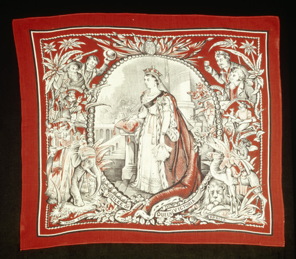Queen Victoria's commemorative handkerchief: 1897