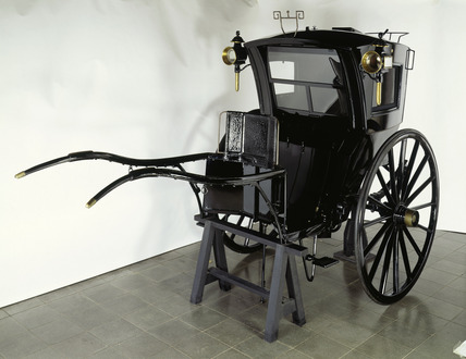 Private hansom cab: 1890