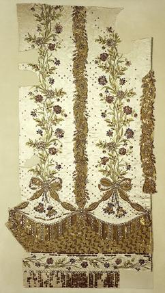 Fragment of court dress' petticoat: 1780