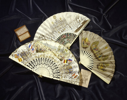 Selection of paper fans: 19th century