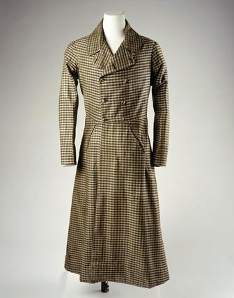 Wool overcoat: 19th century