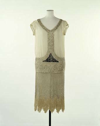 Silk evening dress: 20th century