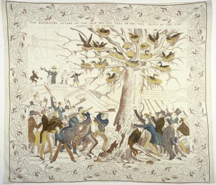 Reform Bill commemorative handkerchief: 1831