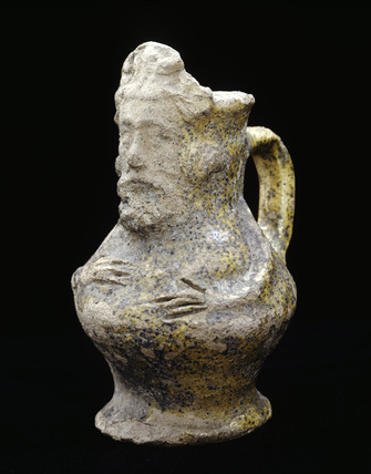 Miniature Kingston-type ware jug: late 13th- early 14th century