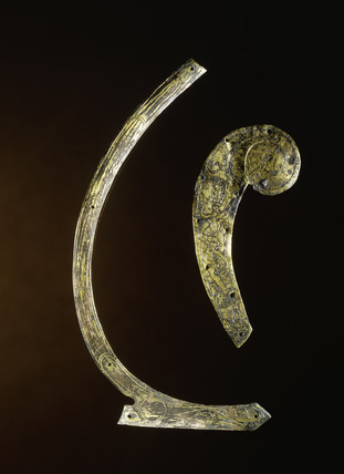 Two Ringerike-style decorated Saxon mounts: 11th century