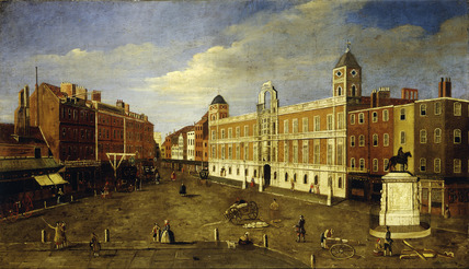 Charing Cross and Northumberland House from Spring Gardens: 18th century
