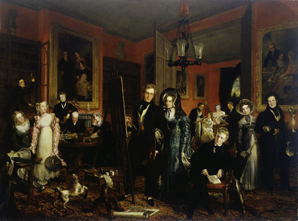 The artist and his family in their house at 21 Brook Street, Grosvenor Square: 19th century