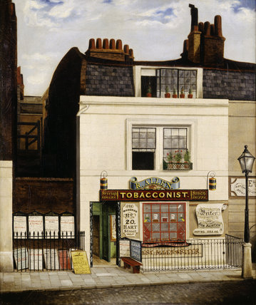 Allen's Tobacconist Shop, 'The Woodman', 20 Hart Street, Grosvenor Square: 1841