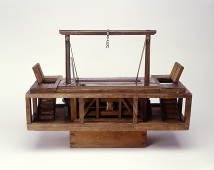 Wooden model of Newgate gallows: 20th century