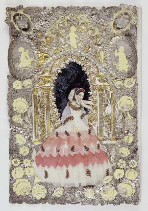 Multi-layered, hand-finished Valentine's card: 19th century